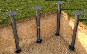 Фундамент для дома на винтовых сваях в Северске. Сколько стоит винтовая свая для фундамента можно узнать у нас!