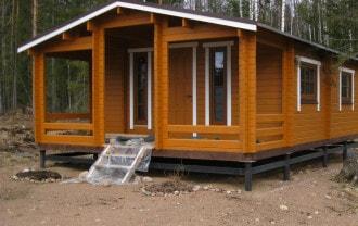 Строительство дома на торфяном грунте в Северске по выгодным ценам. Винтовой фундамент Северск.
