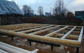 Винтовой фундамент для бани в Северске по низким ценам. Короткие сроки и быстрый монтаж винтовых свай.